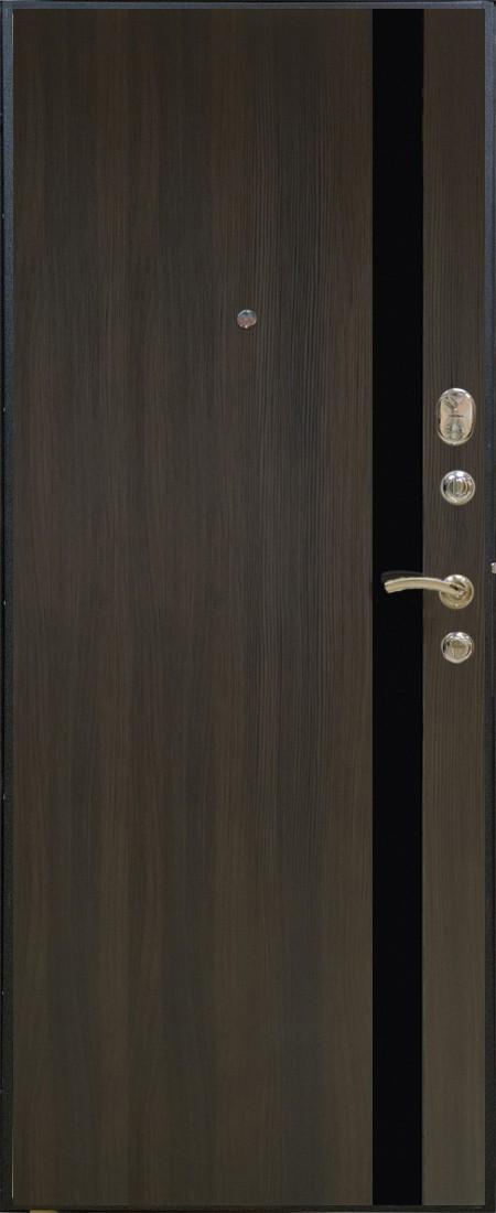 входная дверь черный шелк венге